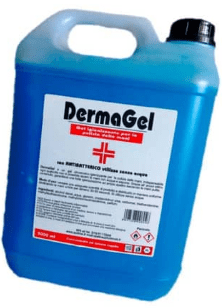 tanica 500 ml gel igienizzante mani Dermagel