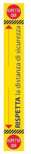 adesivo segnaletico a terra rispetta distanza sicurezza 120x19 cm
