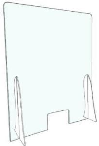 pannello separatore in plexiglass