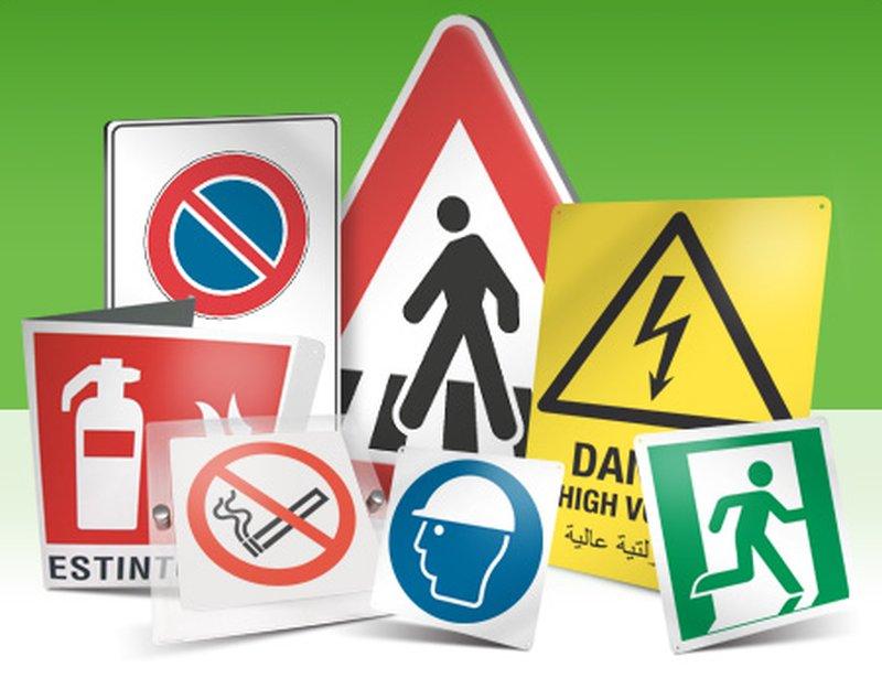 Cartelli sulla sicurezza lavorativa