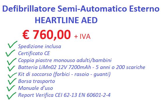 defibrillatore a Roma per scuole